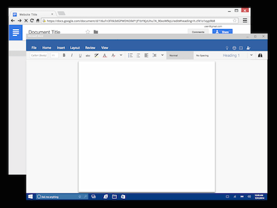 Google Docs and Microsoft Word Frames