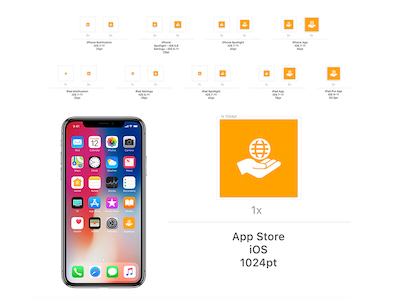 Xcode App Icons Template