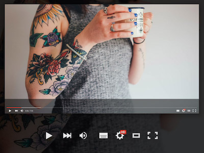 YouTube Player UI