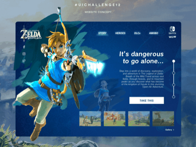 Zelda Website Template