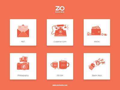 Zo Rooms Icon Set