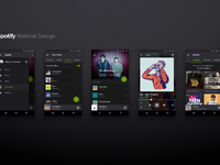 Spotify Material Design [Concept]