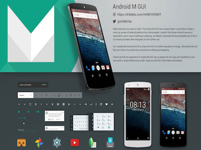 android m gui kit sketch freebie download free resource