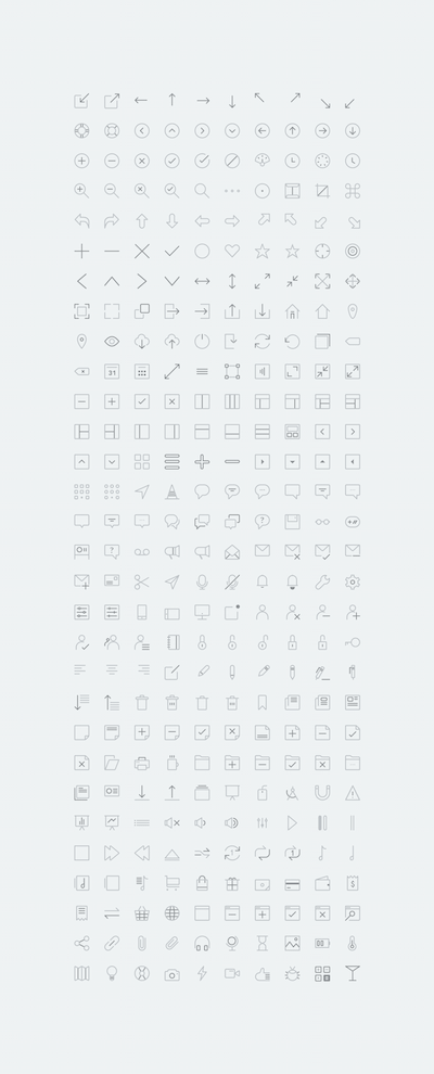 Icons for Apps and Web Projects