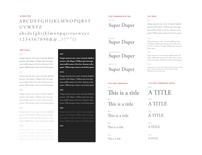 Font Specimen for Sketch
