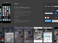 Complete iOS 8 GUI Elements for Sketch (iPhone 6)