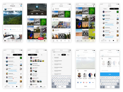 Instagram Based UI Kit
