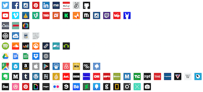 Popular Websites Icon Set