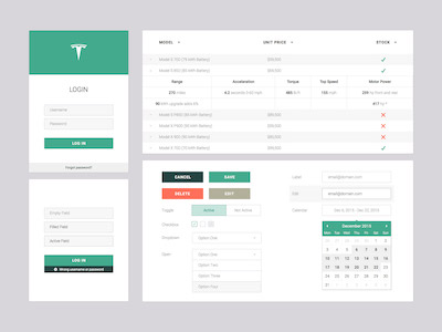 Web App UI Set