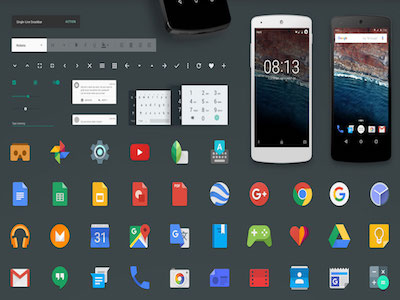 Android M GUI Kit