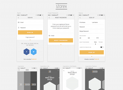 Shopping App Kit: Storex