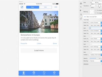 Ionic Sketch UI Template Components Sketch Premium Resource