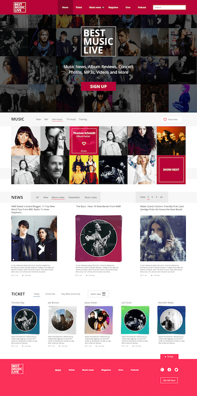 Music Site Template